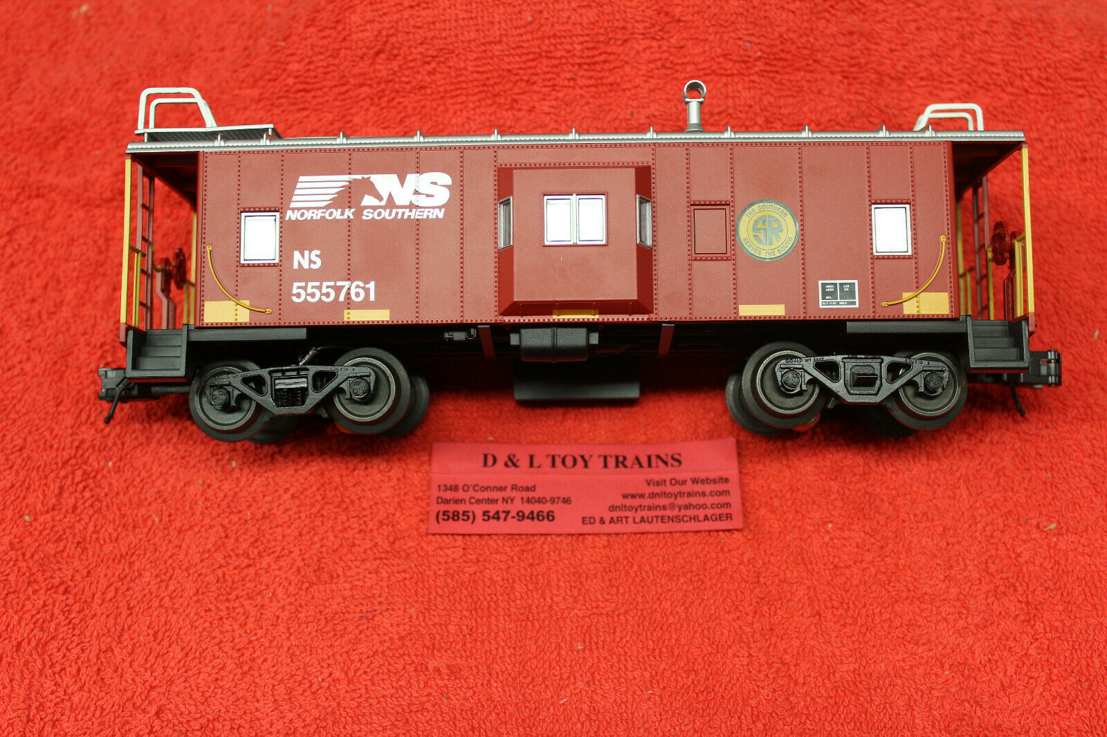 2001740 Norfolk Southern Bay finestra Caboose 3 Rail nuovo IN scatola