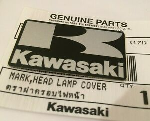 Kawasaki K Black Silver Sticker Badge Fairing Emblem 42mm X 24mm Uk Stock Ebay