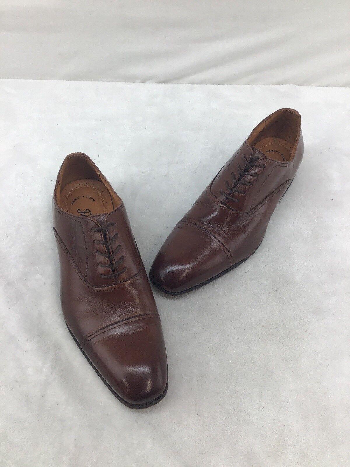 Florsheim Mens Brown Leather Oxfords Size 9.5D  F6692 DE