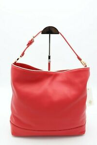 NWT-Tory-Burch-Red-Duet-Leather-Hobo-Shoulder-Bag-Purse-New-450