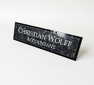 Image Is Loading Personalised Laser Engraved Desk Name Plate Sign Custom