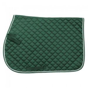 100% De Qualité Equiroyal Vert Matelassé Coton Confort Square Anglais De Selle Horse Tack-afficher Le Titre D'origine Les Consommateurs D'Abord