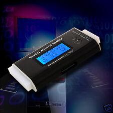 PC Power Supply Tester 20/24 Pin SATA LCD PSU HDD ATX BTX Voltage Test Source