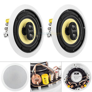 "6.5"" In-Ceiling Home Theater Speaker 60W RMS DVC Stereo 8 Ohm DCM TD622C 2 Pack"