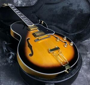 Custom-Shop-G-Byrdland-Electric-Guitar-Vintage-Color-Spruce-Top-Grover-Tuner
