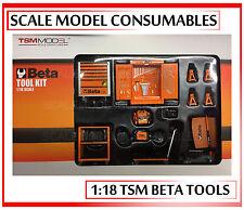 1:18 1-18 1/18 118 BETA Garage Officina Strumento Set Diorama RICAMBI ACCESSORI TSM