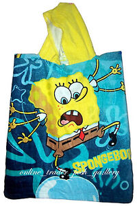 SPONGEBOB-HOODED-CHARACTER-BEACH-BATH-TOWEL-BRAND-NEW