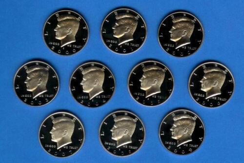 2000 through 2009 Silver Proof Kennedy Half Set of 10