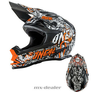 Oneal-7series-Minaccia-OPACO-Neon-Orange-Casco-Mx-Motocross-Cross-XL-Enduro