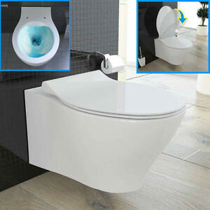 bad1a sp lrandloses wand h nge wc sp lrandlos keramik toilette passend geberit ebay. Black Bedroom Furniture Sets. Home Design Ideas