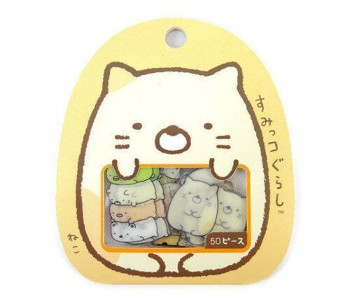 Japanese Sumikko Gurashi sticker flakes San-X Kawaii neko cute cat stickers