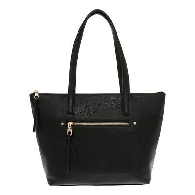 NEW Piper Elissa Zip Top Tote Bag PH-0062 Black