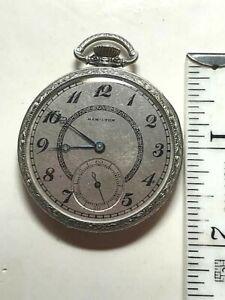 Hamilton 17j Grade 912 WGF Pocket Watch c1939 w/Presentation Box Runs  (Y)
