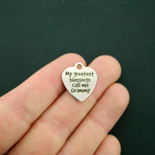 Grammy Stainless Steel Charm BFS1583 My Greatest Blessings Call Me