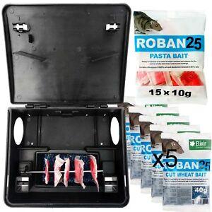 Elixir Rat Box +Bait Difenacoum Roban Poison Kit Ready To Use Pet/Child Friendly