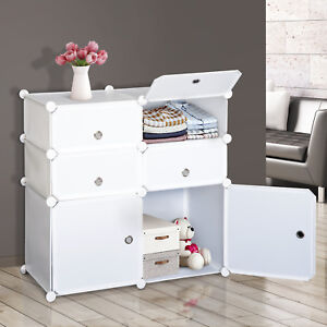 Wardrobe-Closet-Interlocking-Cube-Plastic-Storage-6-Cube-Organizer-Cabinet-Home