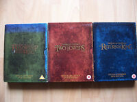 3 DVD boxsets Lord of the Rings Fellowship of the Ring, Two Towers, Return King