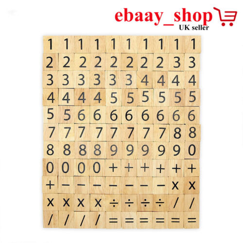 100 PCS WOODEN SCRABBLE TILES LETTERS CRAFTS ALPHABET SCRABBLES BOARD GAME TOY