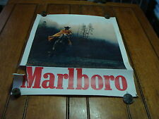 Vintage MARBORO Poster--MAN ON HORSE, TORN