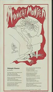 GAHAN-WILSON-illustrated-Broadsheet-MIDNIGHT-MONSTER-1-of-only-400