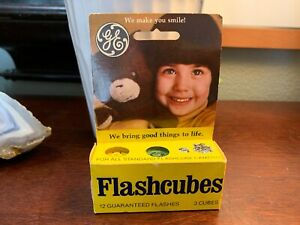 Vintage-3-PACK-GE-Camera-FLASH-CUBES-12-Flashes-PER-CUBE-Brand-NEW-Rare