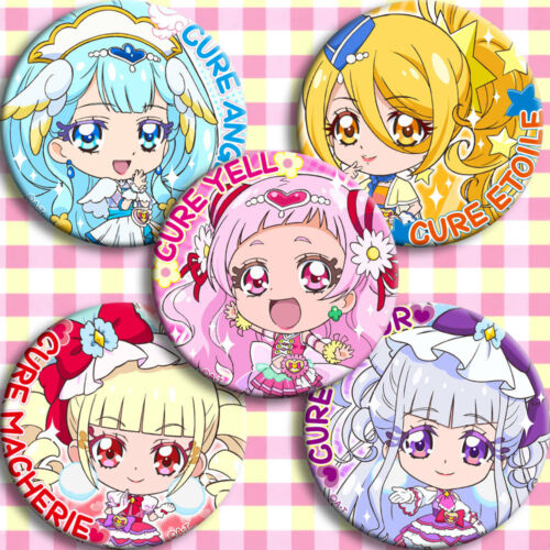 5pcs Badge Pin Button Itabag Bags Garniture Brooch Anime Hugtto!Pretty Cure