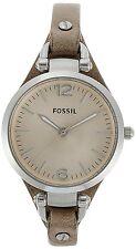 Fossil Women's ES2830 'Georgia' Beige Leather Watch
