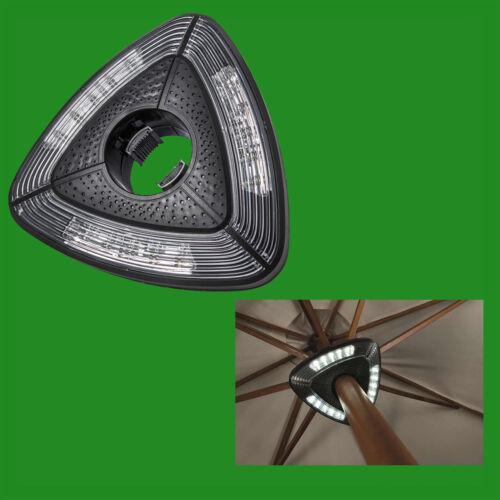 Battery Powered Lamp Garden Umbrella Parasol Pole 15 LED Camping White Light