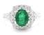 1-70Ct-Natural-Emerald-amp-Diamond-14K-Solid-White-Gold-Ring thumbnail 1