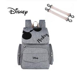 BNWT Gris Mickey Mouse pañales bolso cambiante Diper