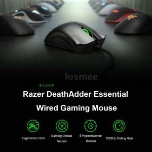 e0acf6877cc Image is loading Razer-DeathAdder-Essential-6400DPI-PC-Gaming-Mouse-Mice-