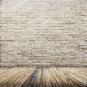 5x7ft Brick Wall Retro Wood Floor Photography Backdrop Background Studio Prop
