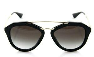 RARE-Genuine-PRADA-Cinema-Catwalk-Black-Gold-Sunglasses-PR-12QS-1AB-0A7-SPR-12Q