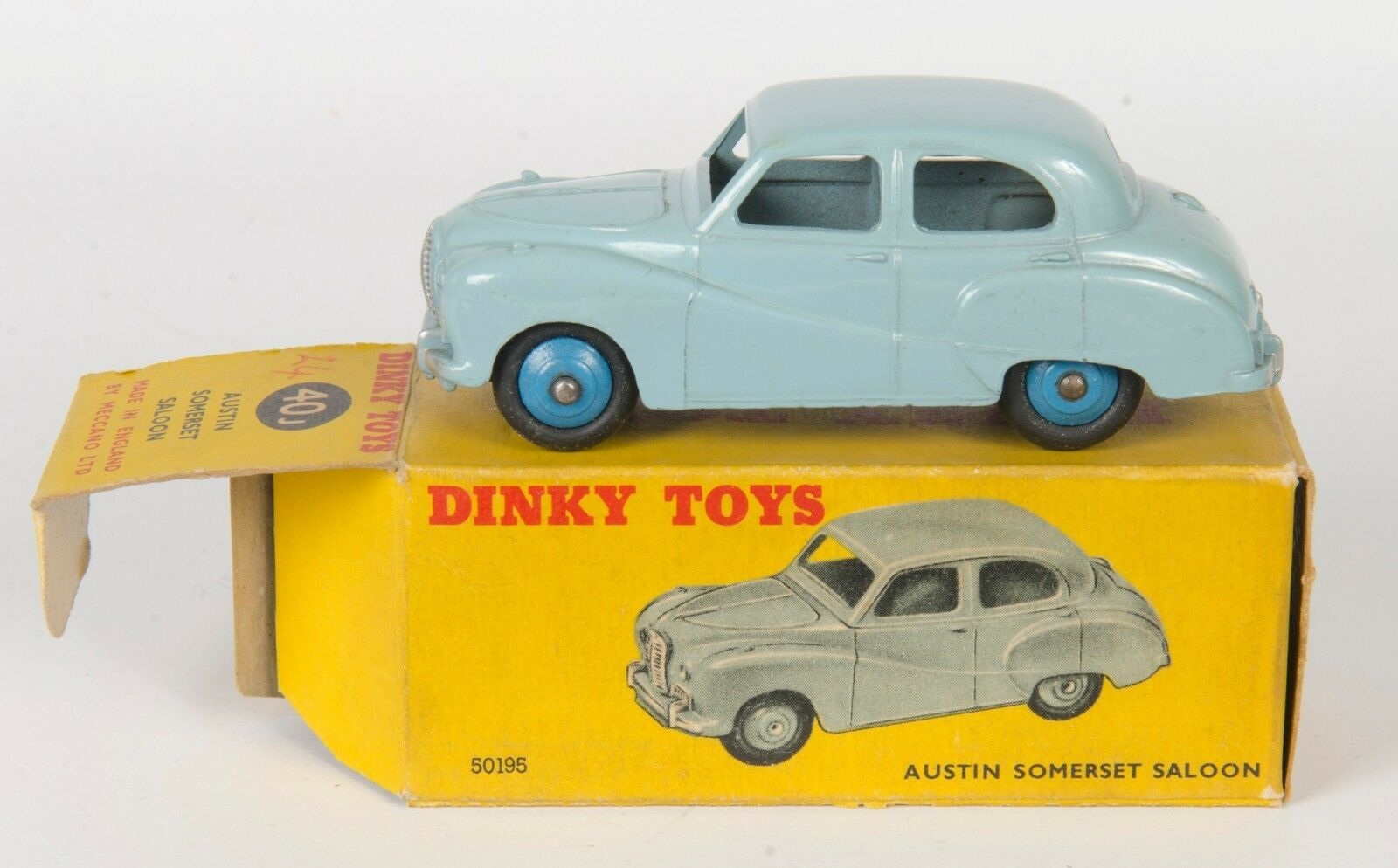 Dinky 40J Austin Somerset Saloon. Light bluee. Very Near-Mint Boxed. Rare. 1954