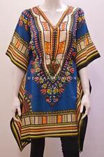 PLUS SIZE FUNKY BOHO HIPPIE TRIBAL AZTEC SWIRL AFRICAN SHORT KAFTAN TURQUOISE 36