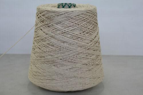 Wolle Zwirn Strick Garn 600g 100/% REINE BAUMWOLLE NATUR 2,2 16,65€//kg L28