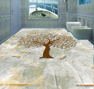 3D Simple Tree Leaves 73 Floor WallPaper Murals Wall Print Decal AJ WALLPAPER US