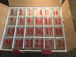 Pottery Barn Advent Calendar Votive Set Of 24 Ebay