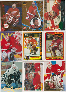 97-card-Mike-Vernon-mixed-lot-Calgary-Flames-legend