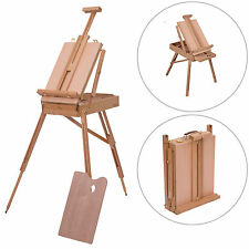 Wooden Tripod Art Easel Portable Sketch Drawing Box Artist Painting Foldable