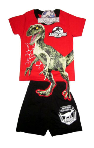 JURASSIC WORLD Kids toddler cotton summer outfit set Size S-L Age 1-3y Free Ship