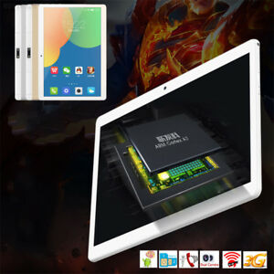 1E37 4GB/64GB Tablet 3G Call Phablet Android 7.0 10.1 Inches Flat Pc MTK6592