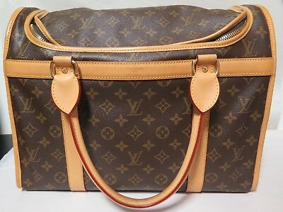 .AUTH LOUIS VUITTON MONOGRAM SAC CHIEN 40 DOG CARRIER BAG M42024