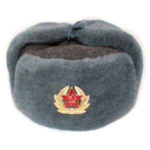RUSSIAN STORE Colbacco Soviet Ushanka in Volpe con copriorecchie Originale Russo