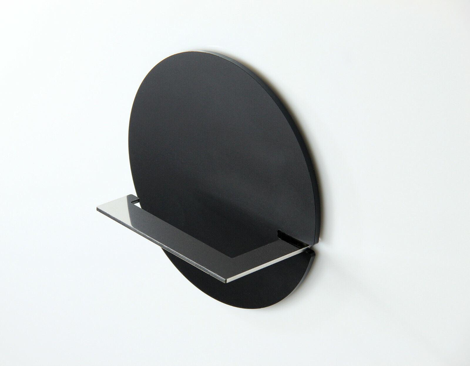 WC-Rollenhalter aus Edelstahl und Acryl zum Kleben -rund- OHNE BOHREN  schwarz