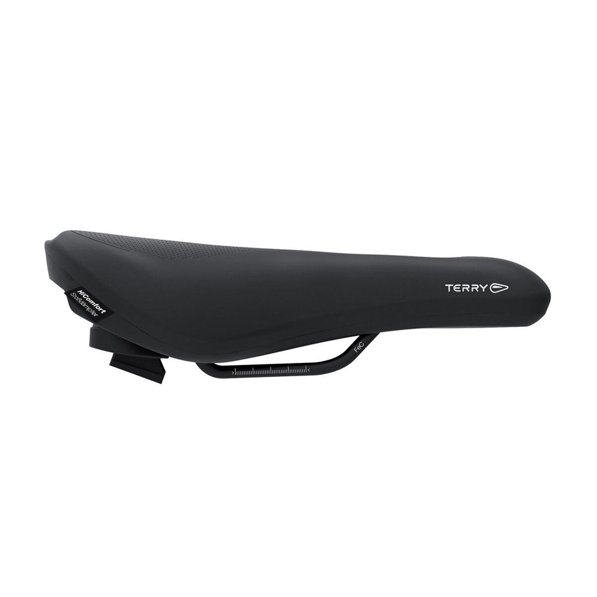 Terry Fisio Flex Gel Sie Comfort Herren Trekking Fahrrad Sattel schwarz