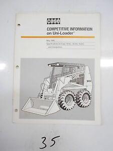 Case 1845c Specs >> Details About Case 1845c 1816c 1835b Uni Loader Competitive Info Dealer Specs Brochure 1986