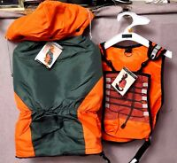 Zack & Zoey Hunting Body Guard Vest Or Camp Parka Orange Drink Holder Large