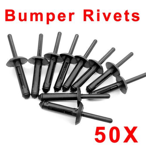 50x New Nylon Plastic Bumper Fascia Rivet Clip Automotive Body Repair For Buick