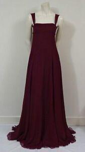 89a69d729a6 YSL YVES SAINT LAURENT Purple Silk Chiffon Evening GOWN Dress FR34 ...